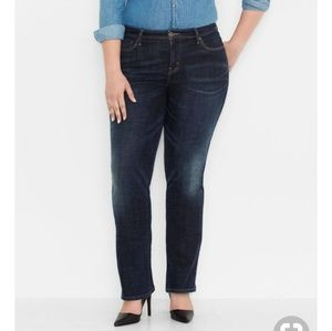 Levis plus 580 straight defined waist jeans 22W S